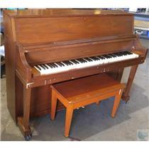 Yamaha P202 Upright Piano Walnut Finish Three Pedal 88 Key - Bad Key