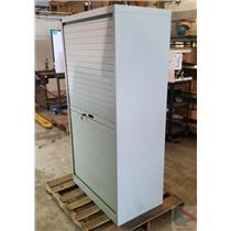 EDP Bi-Parting Roll Up Door Locking Security Cabinet Tape Drive Storage Shelves