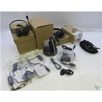 Lot Of Assorted Jabra GN Headsets & Accessories UNTESTED SEE DESCRIPTION