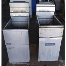Lot of 2 Deep Fryers Pitco Frialator Imperial Commercial Brands - MISSING PARTS