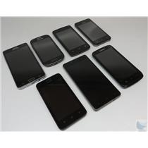 Dealer Lot Of 7 Android Cell Phones Smartphones Blu ZTE & More Unknown Carriers