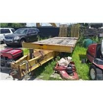 2002 Crosley 33-Foot Flatbed Trailer 8-Foot Wide Wooden Panel Bed Lunette Ring