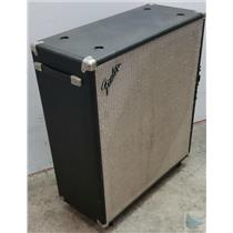 "Fender Bassman 50 2x15"" Speaker Cabinet late 70's Grill and Casters Sounds Good!"