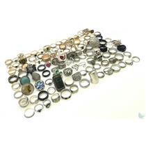 Large Lot Of 110+ Assorted Costume Rings-Gold & Silver Tone