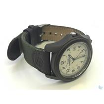 Timex WR50M Stainless Steel Case Back Water Resistant Leather Band Watch