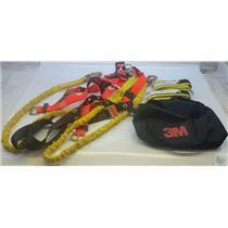 3M Fall Protection Bundle - Harness, 6' Dual Lanyard, 2)6' Anchor Straps, Duffel
