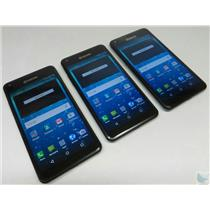Dealer Lot Of 3 Kyocera Hydro View C6742 Cricket Wireless GSM Android Phones