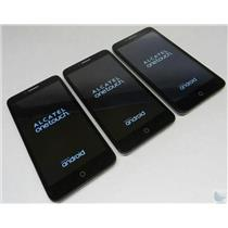 Dealer Lot Of 3 Alcatel OneTouch Flint 50540 Cricket Wireless GSM Android Phones