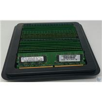 Lot of 25 1GB DDR2 Desktop Memory PC2-4200u 533MHz RAM Mixed Brand