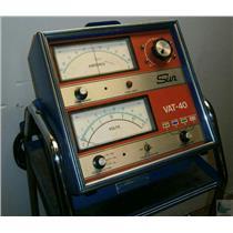 Sun Vat-40 Battery Tester Volts Amp Amperes Load W Cart