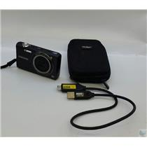 Samsung SH100 14.2MP Digital Camera with USB & Carrying Case - Tested Working