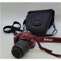 Nikon D3200 Digital SLR Camera with EN-EL14 Battery Pack  - Tested Working