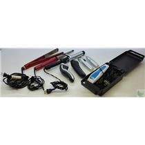 Lot of Hair Care Devices Curling Irons, Flat Iron, Shavers, Trimmers, Clippers