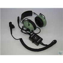 David Clark H6030 40461G-01 Aviation Headset with C6008 Radio Adapter