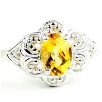 Citrine, 925 Sterling Silver Ladies Ring, SR125
