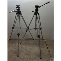 Lot of 2 Bogen 3046 Professional Tripods with 3063 Heads Made in Italy Manfrotto