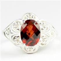 Mozambique Garnet, 925 Sterling Silver Ladies Ring, SR125