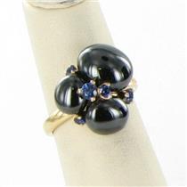 Pomellato Capri Black Ceramic Sapphire Ring 18k Rose Gold Ring Sz 53 New $2100