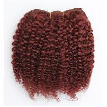 "Dark auburn red #33 bebe curl -  mohair weft coarse 7- 8"" x 50"" 26596 QP"