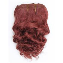 "Dark auburn red #33 wavy mohair weft coarse 7-8"" x100"" 26589 HP"