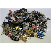 Lot of 10lbs Mixed Keys Keyrings Keyfobs from Lost & Found
