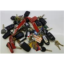 Lot of 4lbs Mixed Automotive Keys Keyrings Keyfobs from Lost & Found