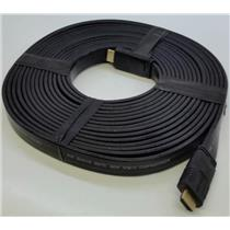 Monoprice 4162 25ft 24AWG CL2 Flat Standard HDMI Cable - Black  TESTED & WORKS!