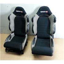 Pair of 2 Tenzo R T-TS4000G Gray Rally Type Reclinable Racing Seats DS & PS