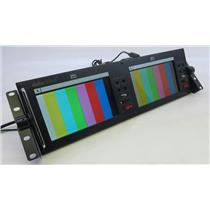 Datavideo TLM-702 Rackmountable Dual 7in x 2 TFT LCD Monitor BNC In/Out WORKING
