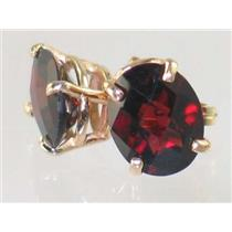 E102, Mozambique Garnet, 14k Gold Earrings