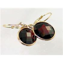 E201, Mozambique Garnet, 14k Gold Earrings