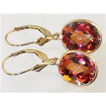 E201, Twilight Fire Topaz, 14k Gold Earrings