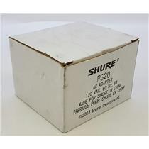 NEW NIB Shure PS20 12VDC AC Adapter Power Supply
