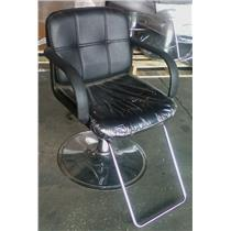 Tispro Black Hydraulic Salon Barber Styling Tattoo Chair - LOCAL PICK UP ONLY