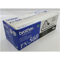 NEW NIB Genuine OEM Brother TN-560 Black Toner Cartridge