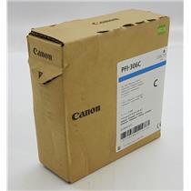 NEW NIB Genuine OEM Canon PFI-306C 6658B001 Ink Tank Cyan Pigment