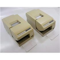 Lot of 2 Epson TM-U375P M115A Dot Matrix Receipt Printer TESTED & WORKING