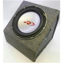 Alpine Type R 12 Car Subwoofer Speaker in Carpeted Wood Enclosure Tested & Works