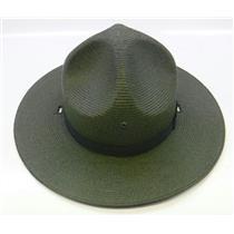 Stratton Straw Campaign Hat 40DB Green Size 7-1/4 WO