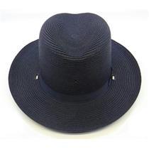 Lawman Straw Sheriff Hat Navy Blue Size 7-3/8 59