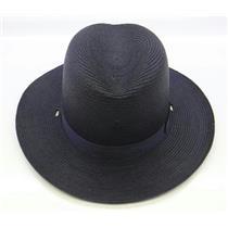 Lawman Straw Sheriff Hat Navy Blue Size 7-1/8