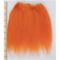 "Yak hair weft bright orange 2% theatrical wig making 7-8 ""x 66"" 26617 HP"