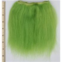 "Yak hair weft bright lime green 1% theatrical wig making 7-8 ""x33"" 26616 QP"