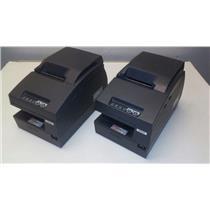 Lot of 2 Epson TM-U675 Dot Matrix POS Receipt Printer FOR PARTS NOT WORKING