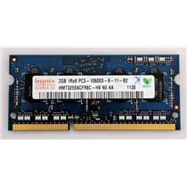 Hynix 2GB PC3-10600 DDR3-1333 nonECC Unbuffered SODIMM 1.5V HMT325S6CFR8C-H9