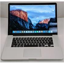"""Apple Macbook Pro MJLT2LL/A 15.4"""" i7-4870HQ 2.5GHz 500GB SSD 16GB AMD R9 M370X"""
