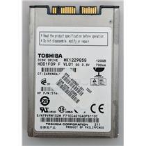 """Toshiba MK1229GSG 120GB Internal 5400RPM 1.8"""" HDD1F09 HDD HP 492560-001"""