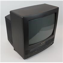 """Sharp 13VT-L100 13"""" Color CRT Television TV VCR Combination TESTED & WORKING"""