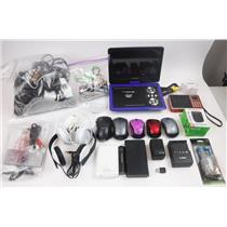 Lot of Miscellaneous Lost & Found Electronics Phone Chargers Earbuds Mice Other