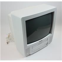 """Toshiba MV13L2W 13"""" Color CRT Television TV VCR Combo TESTED & WORKING"""